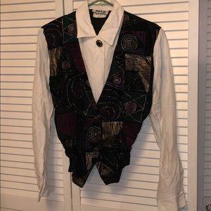 Miz California 90s vest top medium black velvet